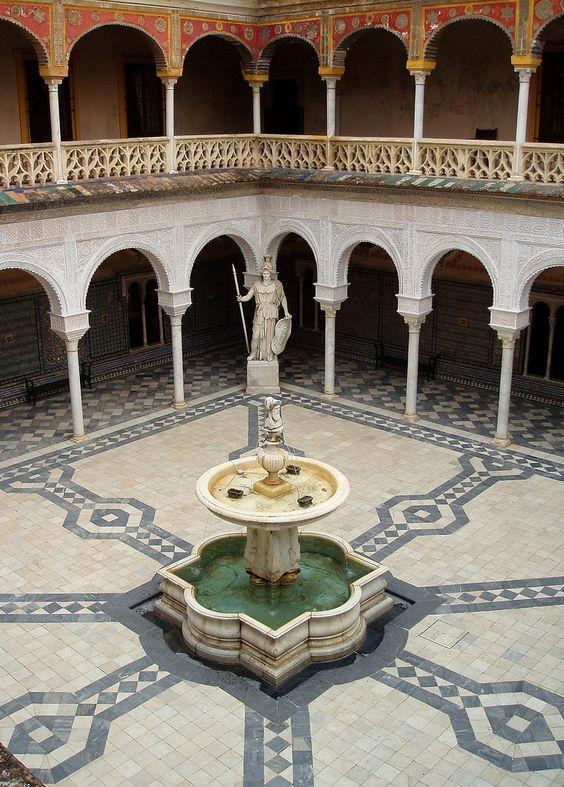 Patio De La Casa De Pilatos Sevilla Sevilla España Sevilla Ciudad De Sevilla