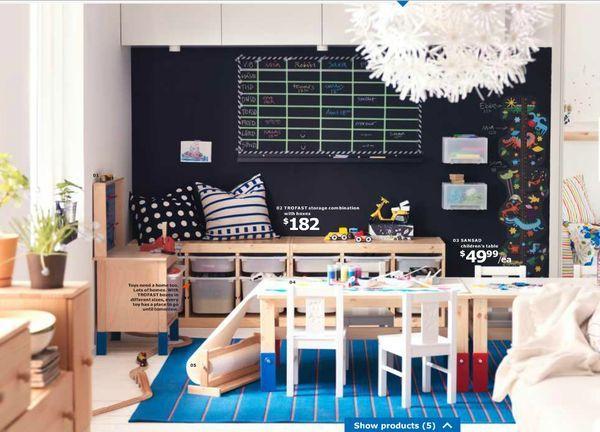 rangement banc trofast ikea idee avec des coussins sur le dessus lou pinterest bancs. Black Bedroom Furniture Sets. Home Design Ideas