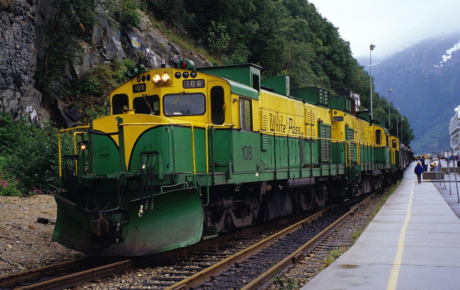 The White P Yukon Railroad Skagway Alaska