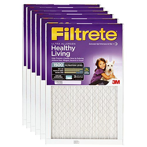 Filtrete 2004DC-6 Ultra Allergen Reduction Filters, 1500 MPR, 14 x 25 x 1, 6-Pack