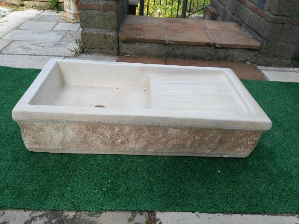 Offerta lavandino lavello in polvere di marmo e cemento - Lavandino cucina in pietra ...