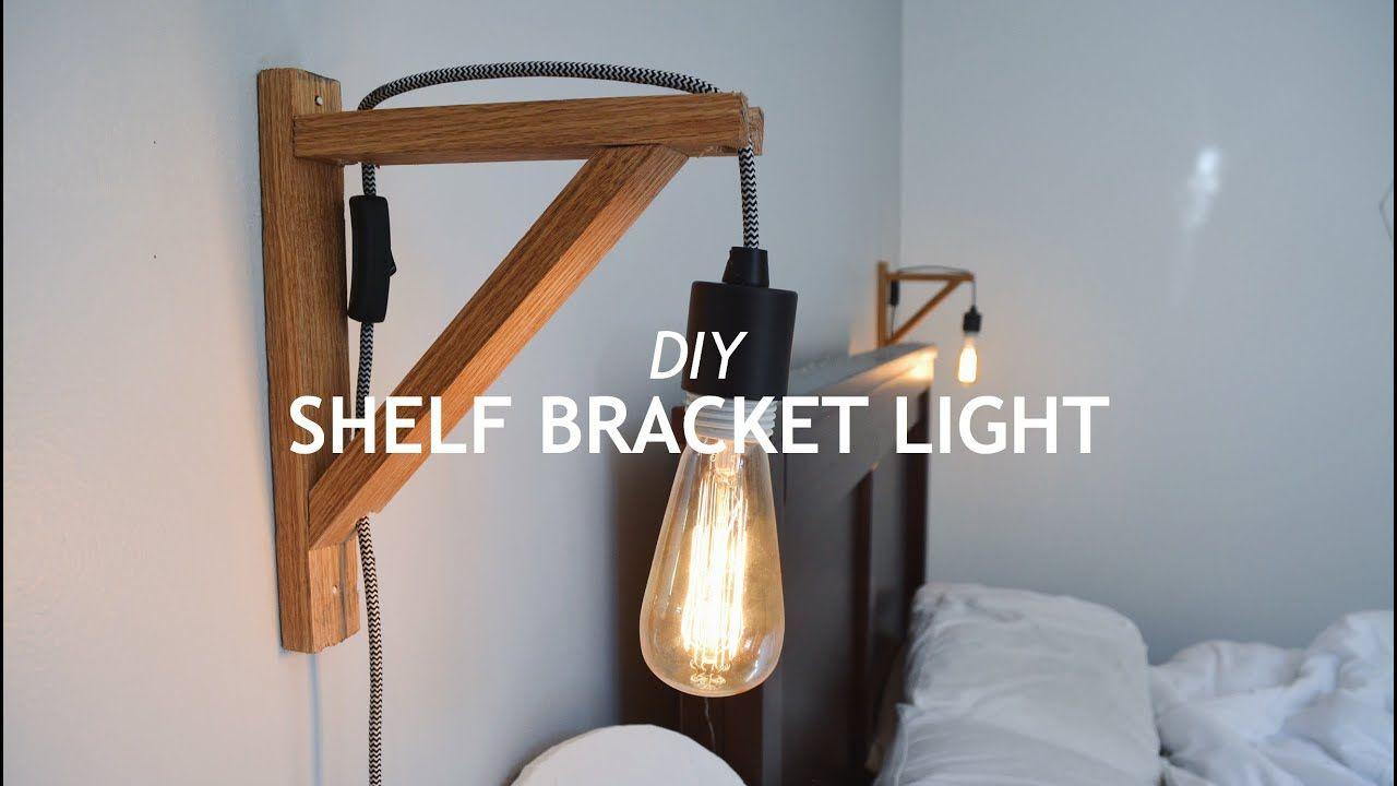 Diy shelf bracket light youtube diy shelf brackets