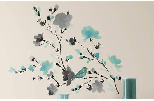 Deco Blossom Watercolor Bird Branch Wall Decal Products Wall