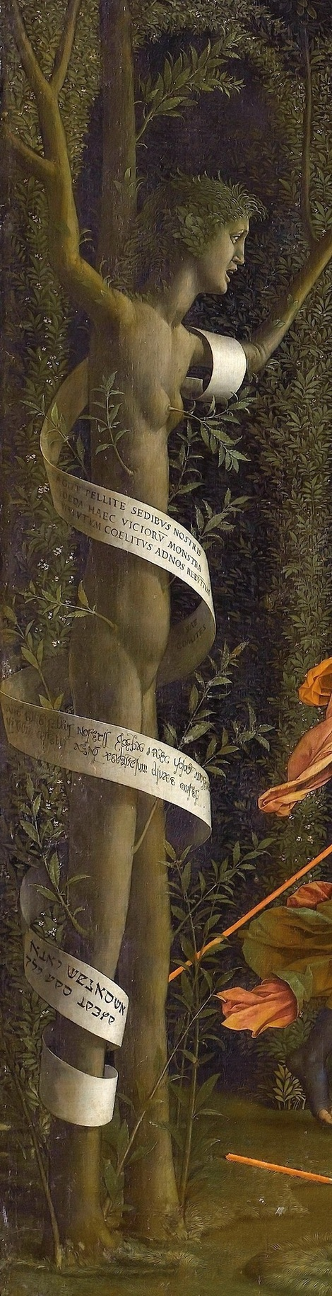 Andrea Mantegna, Minerva Expelling the Vices from the Garden of Virtue, detail. 1502 on ArtStack #andrea-mantegna #art