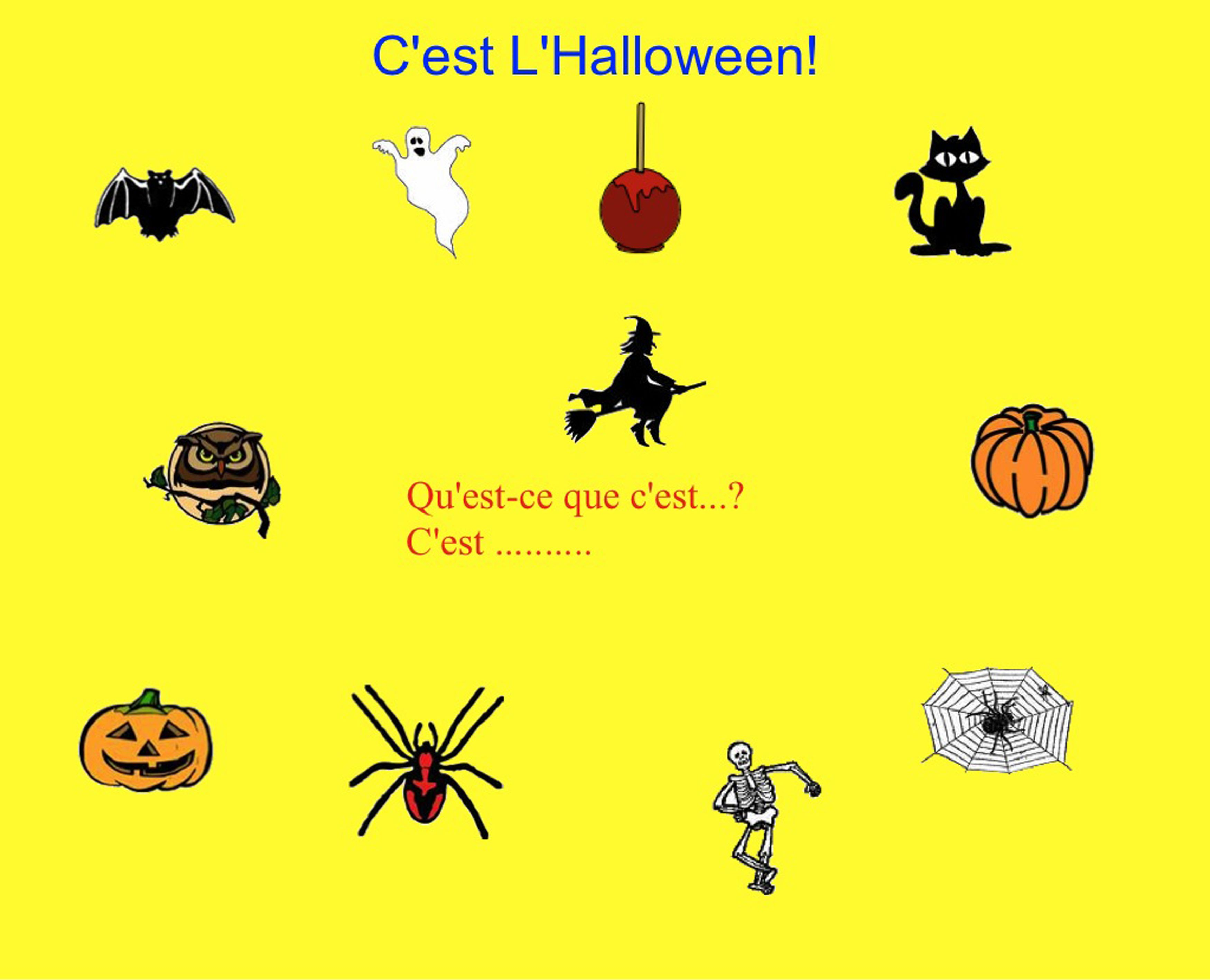 smartboard l 39 halloween vocabulary with mp3 sound french halloween vocabulary french. Black Bedroom Furniture Sets. Home Design Ideas