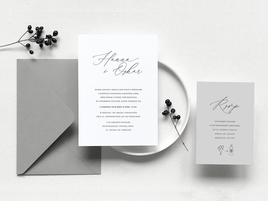 Zaproszenia Slubne Odcienie Szarosci Szczesliwe Chwile Wedding Invitations Romantic Wedding Invitations Invitations