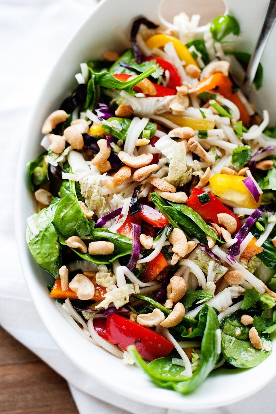 Asian Rice Noodle Salad with HoneyGinger Dressing and