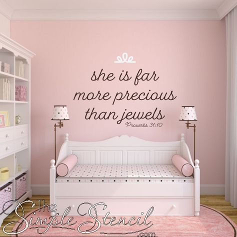 She Is Far More Precious Than Jewels | Proverbs 31:10 Bible Verse Decal images