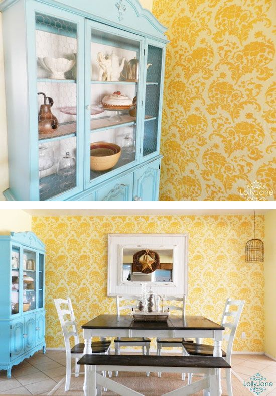 DIY Blog showing stencils for House and Home. Love this feature wall ...