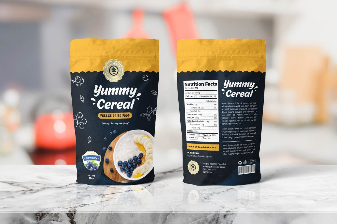 Download Cereal Food Pounch Bag Packaging Template By Uicreativenet On Envato Elements Packaging Template Packaging Snack Food Packaging Design