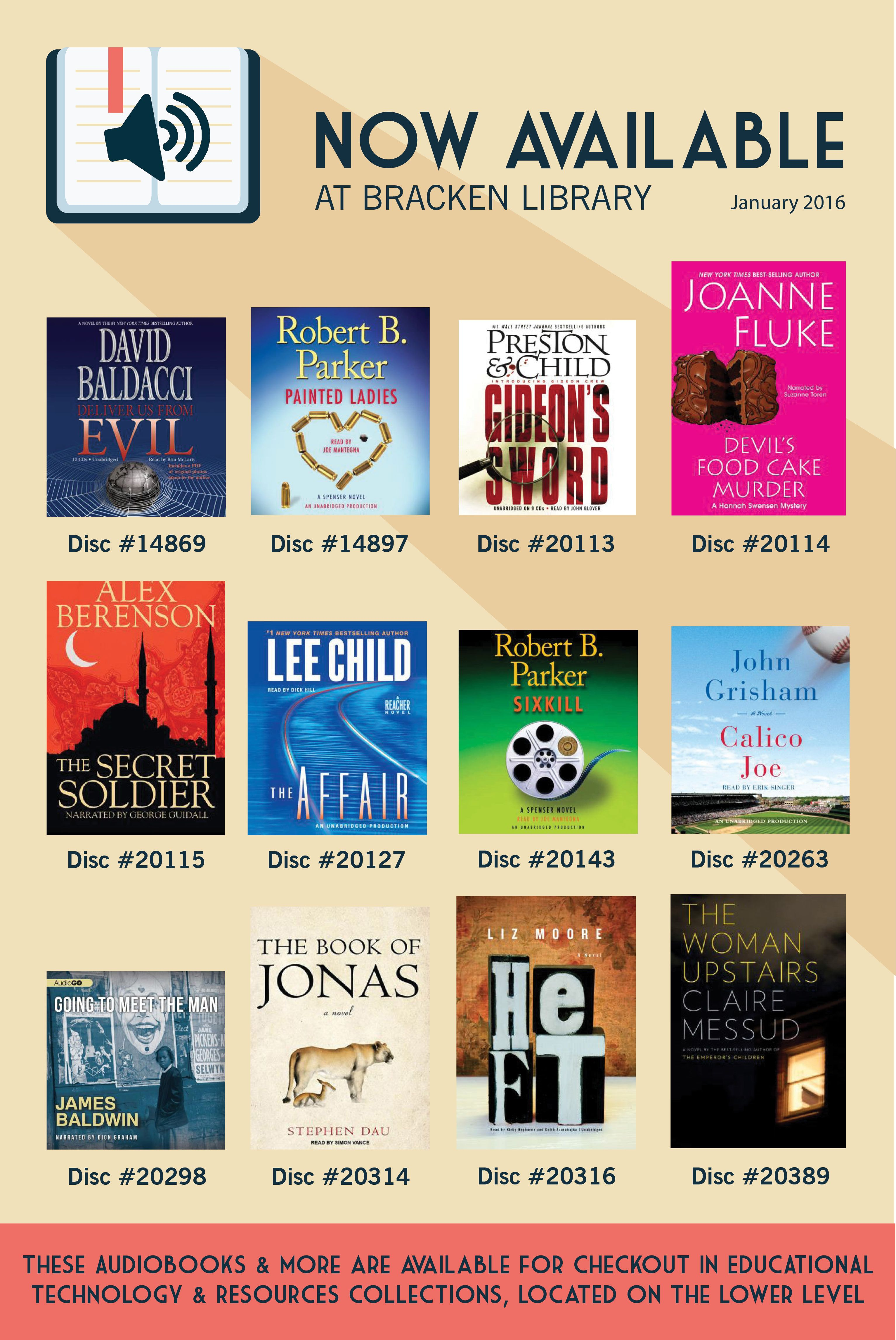 Audiobooks That Are Now Available At Bracken Library January 2016 Library Ball State University Health Science