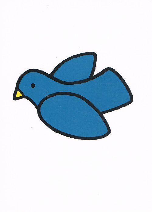 Titel blue bird design dick bruna bruna dick for Bruna ommen