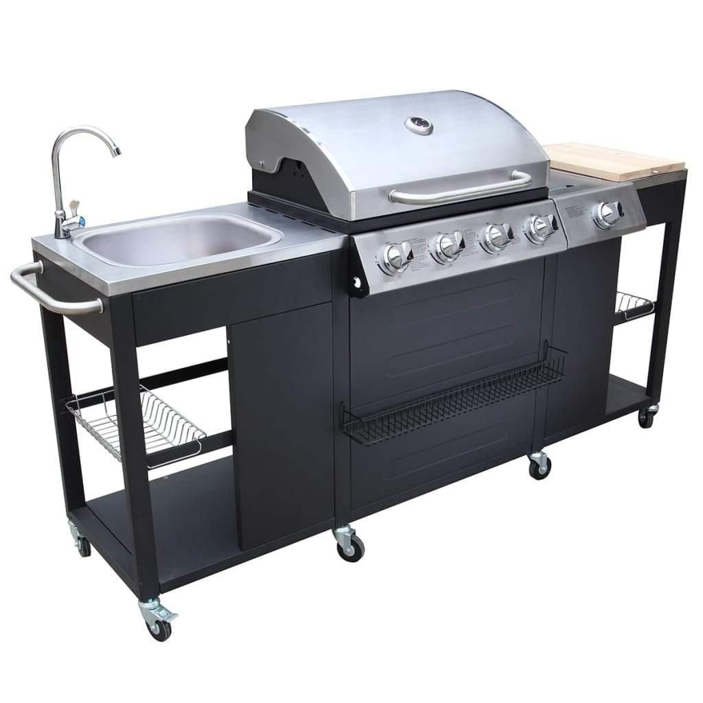 Outdoor Kitchen Barbecue Montana 4 Burners