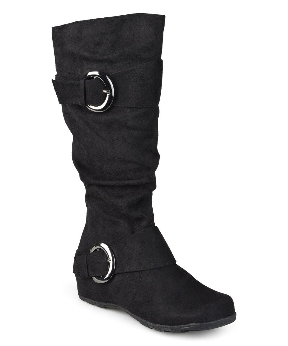 Another great find on #zulily! Brinley Co. Black Augusta Extra Wide-Calf Boot by Brinley Co. #zulilyfinds
