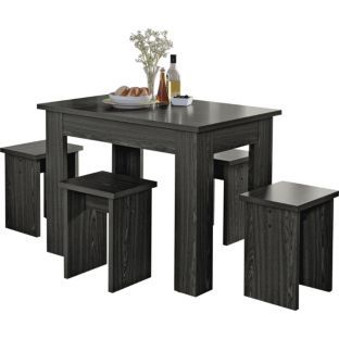 Buy Legia Black Space Saving Dining Table And 4 Stools At Argos Co Uk