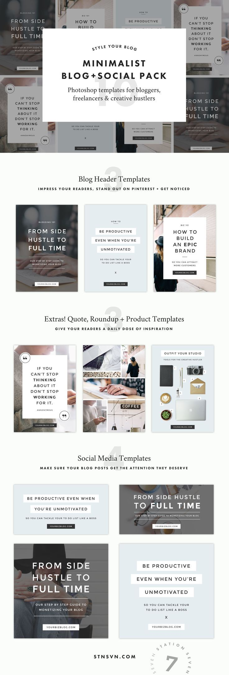 Acadia Blog Pack   Header, Template and Graphics
