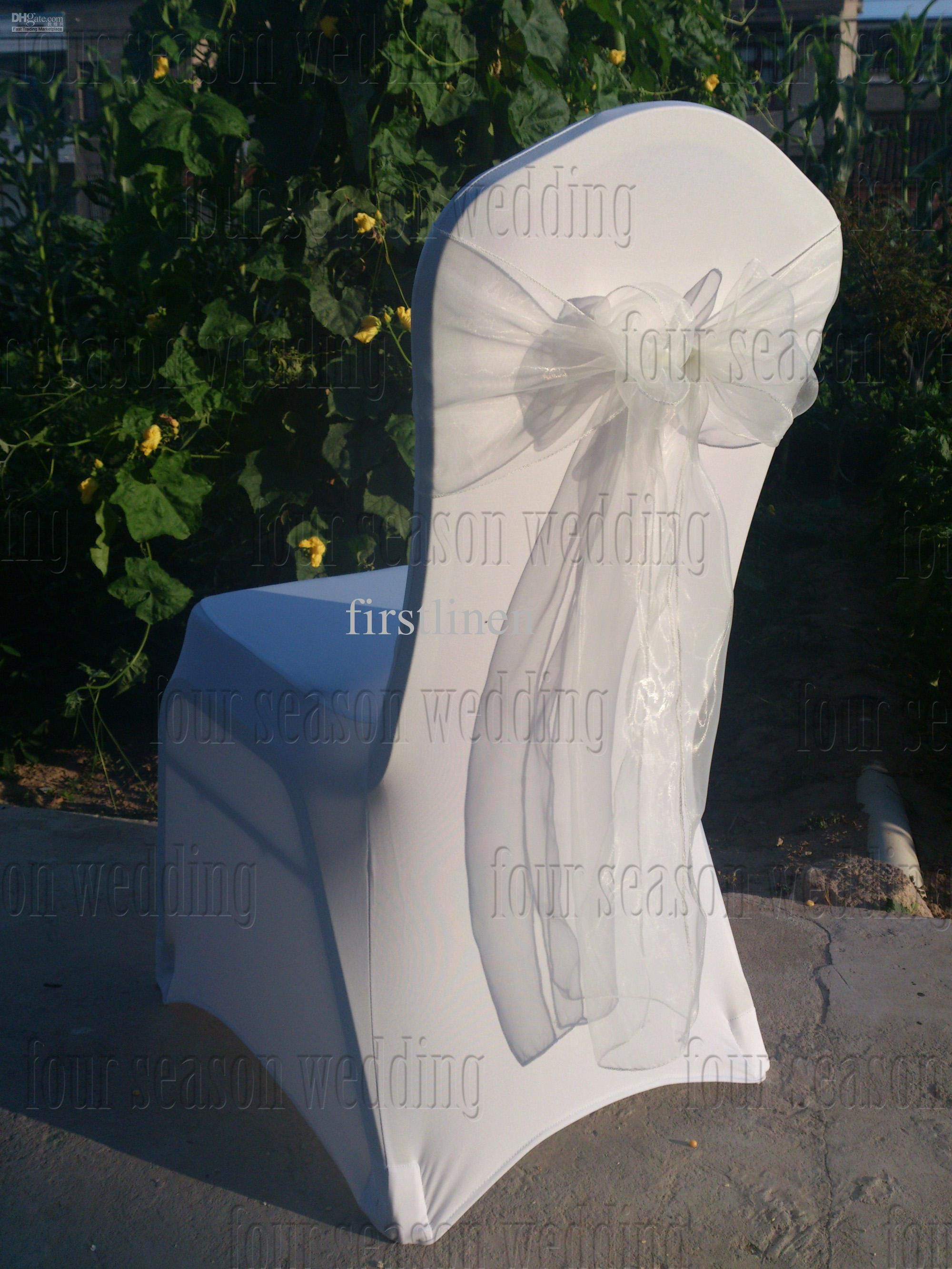Spandex Chair Covers For Sale Cheap Pottery Barn Irving Wholesale Cover Buy White Organza Sashes 1 88 Dhgate