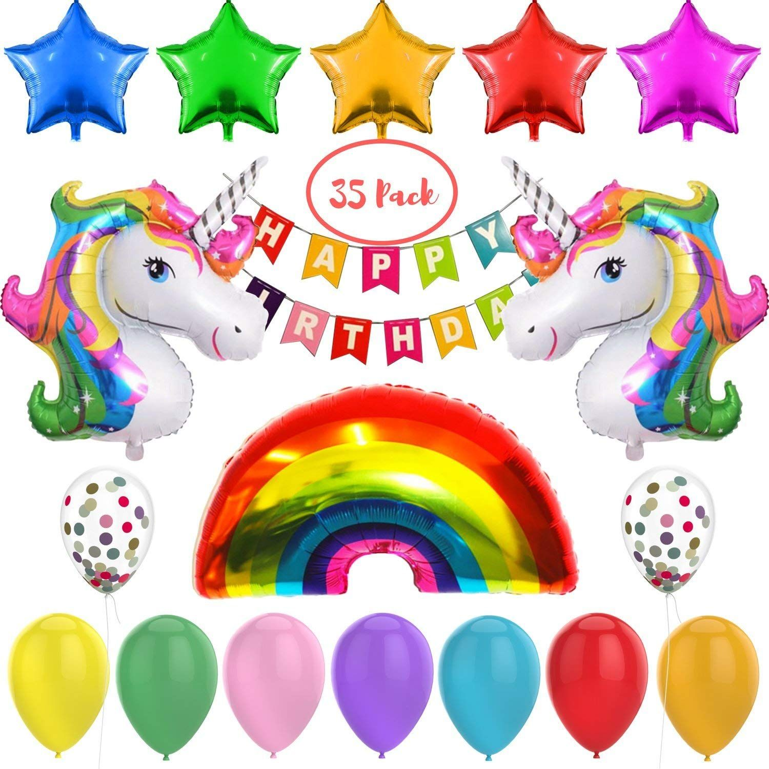 Amazon 35 Pack Unicorn Balloons Just 10 (As of 8/5/2018
