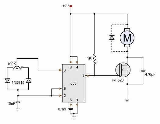 Motor Schematic Diagram Also Dc Motor Control Circuit On Dc ... on