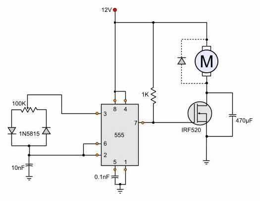 [SCHEMATICS_4FD]  12 Volt DC motor speed controller | Motor speed, Circuit diagram, Circuit | 12 Volt Dc To 24 Volt Dc Wiring Diagram |  | Pinterest