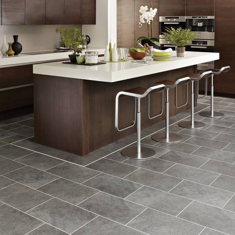 Natural Stone Effect Vinyl Flooring Realistic Stone Floors Floor Tiles Grey Kitchen Floor Modern Kitchen Flooring Grey Tile Kitchen Floor