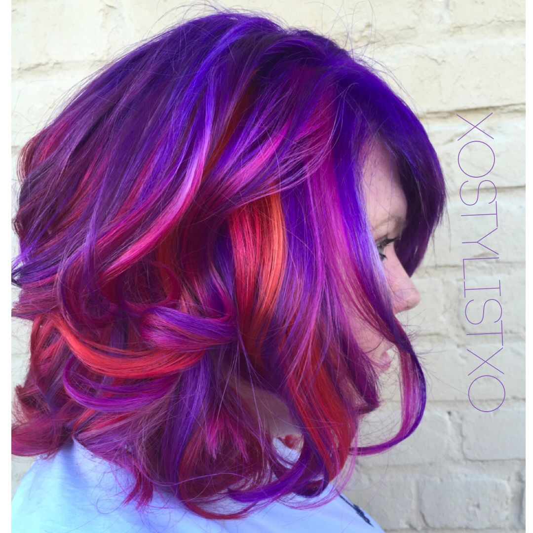 Rainbow Hair Xostylistxo Ash Stylz Hair Pinterest Rainbow