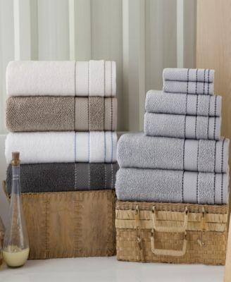 Enchante Home 6 Pc Monroe Turkish Cotton Towel Set Bedding