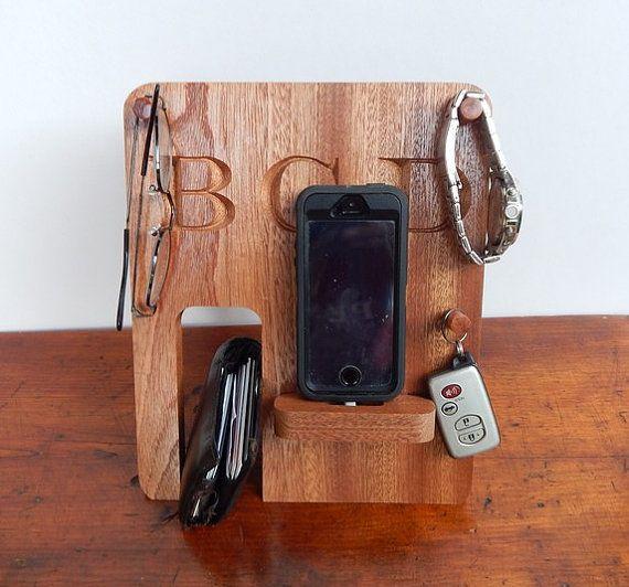 Personalized Phone Docking Station - Groomsmen Gift; Men's Birthday, Anniversary Gift