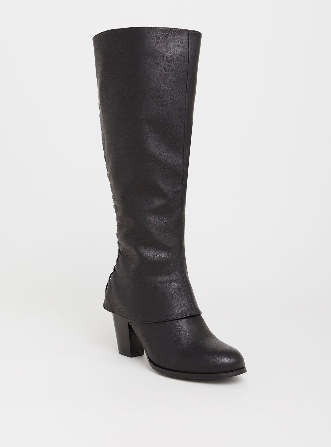 e2d60cab210 Black Lattice Knee Boot (Wide Width