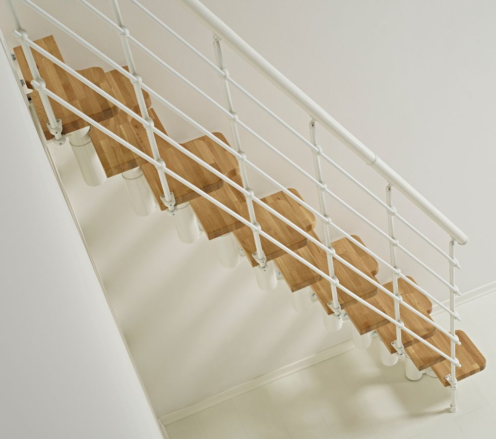 31 Stair Decor Ideas To Make Your Hallway Look Amazing: Oak30 Staircase Kit From Arkè, Inc, In White With Natural