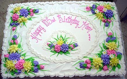 Decorated Full Sheet Cake Flowers Uploaded By Estherlou