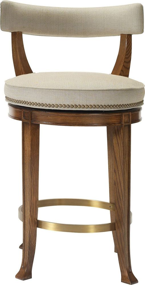 Hickory Chair 1911 Collection Newbury Swivel Curved Back Counter