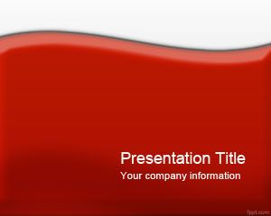 Free Glossy Red PowerPoint template is a free background for ...