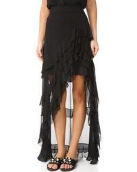 56f8ac8771 Alice + Olivia | Lavera Layered Ruffle High-low Maxi Skirt | Lyst ...