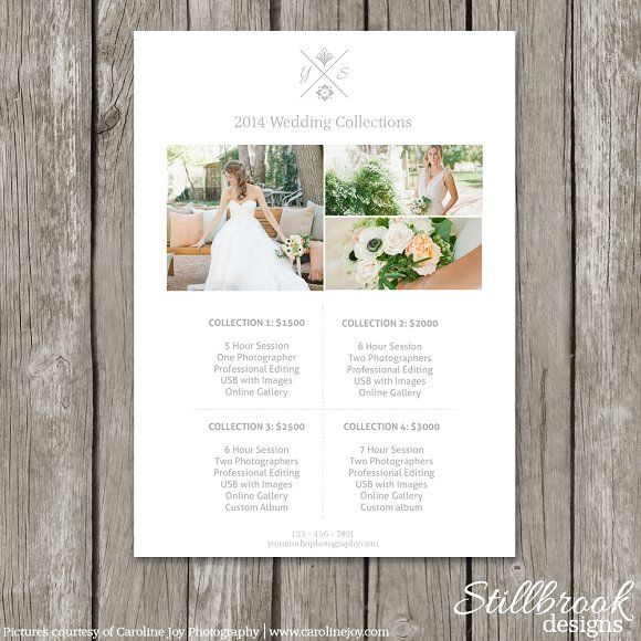 Price Guide Template - Pricing Sheet by Stillbrook Designs on - wedding flyer