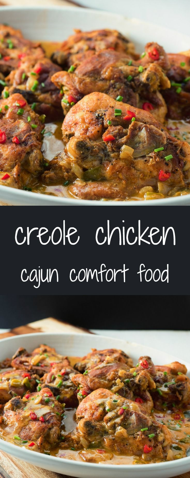 Creole chicken recipe easy foods and recipes easy to make this creole chicken is pure cajun comfort food forumfinder Images