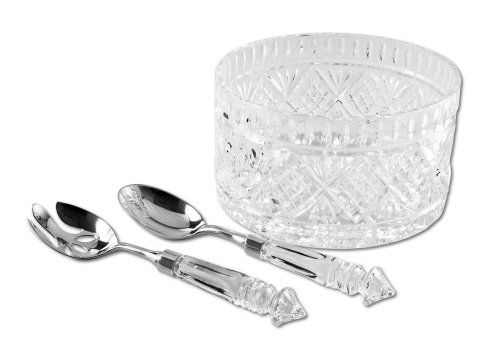DUBLIN COLLECTION CRYSTAL SALAD BOWL WITH 2 SERVERS Godinger Silver Art http://www.amazon.ca/dp/B0014CQ2G4/ref=cm_sw_r_pi_dp_zdljwb0J16H1D