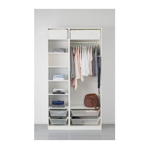 pax kleiderschrank 125x60x236 cm scharnier sanft schlie end ikea holsten. Black Bedroom Furniture Sets. Home Design Ideas