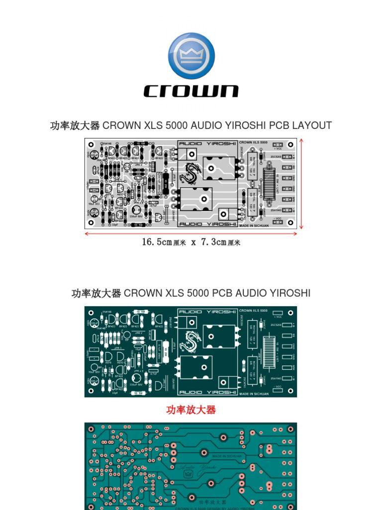 Pcb xls5000 audio amplifier diy amplifier electronics