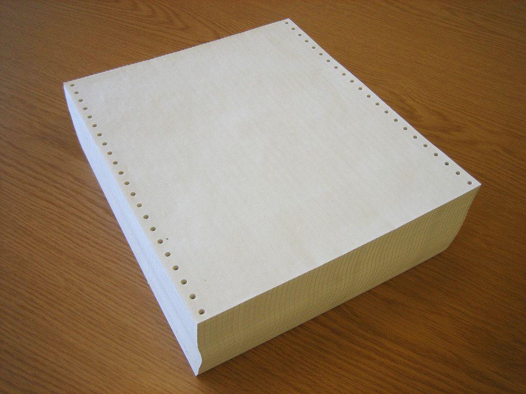 La tensión que sentías al cuidadosamente quitar el papel lateral del papel de computación: