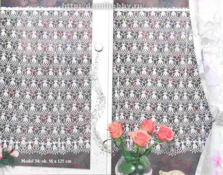 Ажурные занавески | Curtains crochet | Pinterest | Fischnetze ...