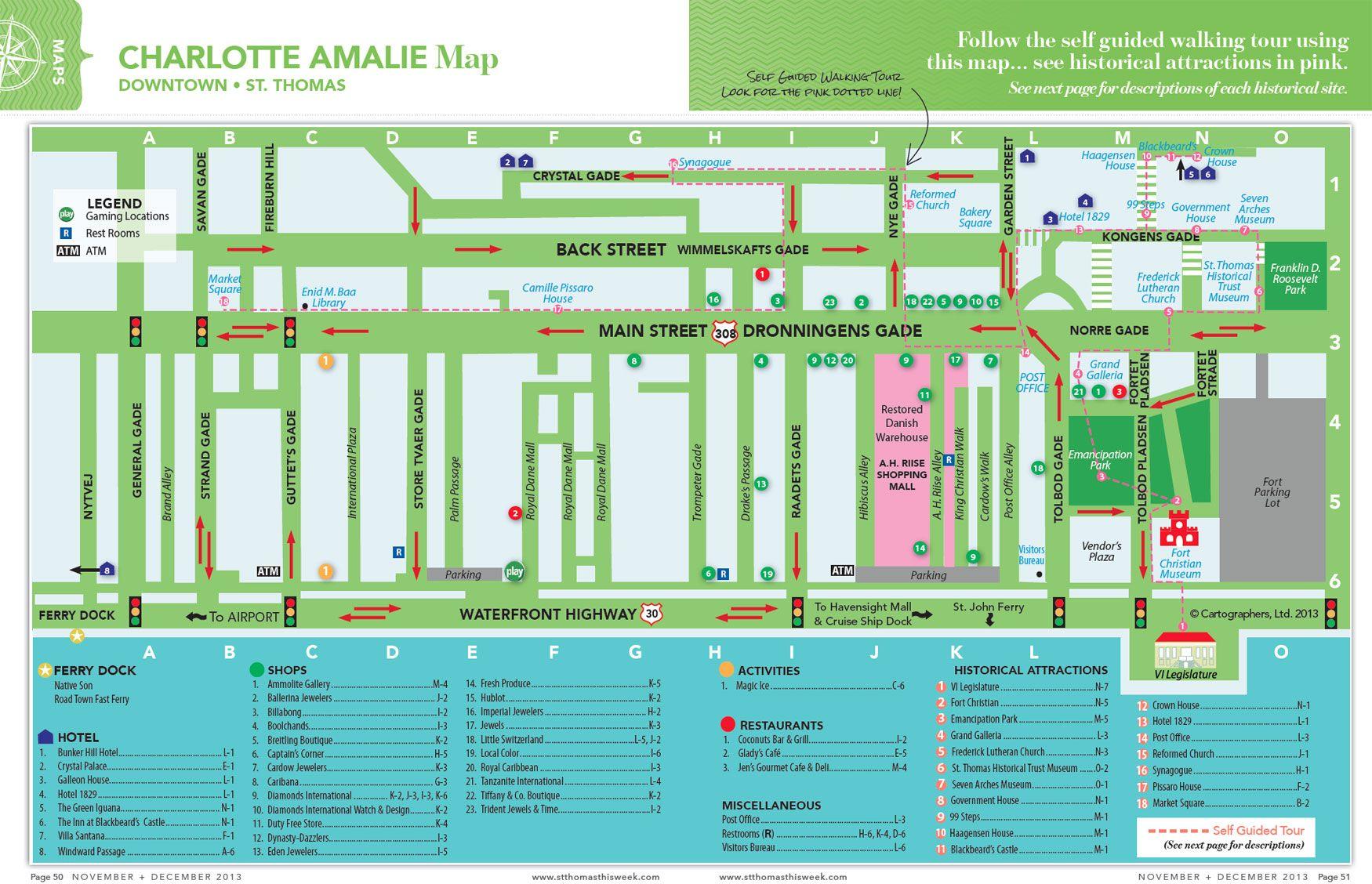 St Thomas Charlotte Amalie Map
