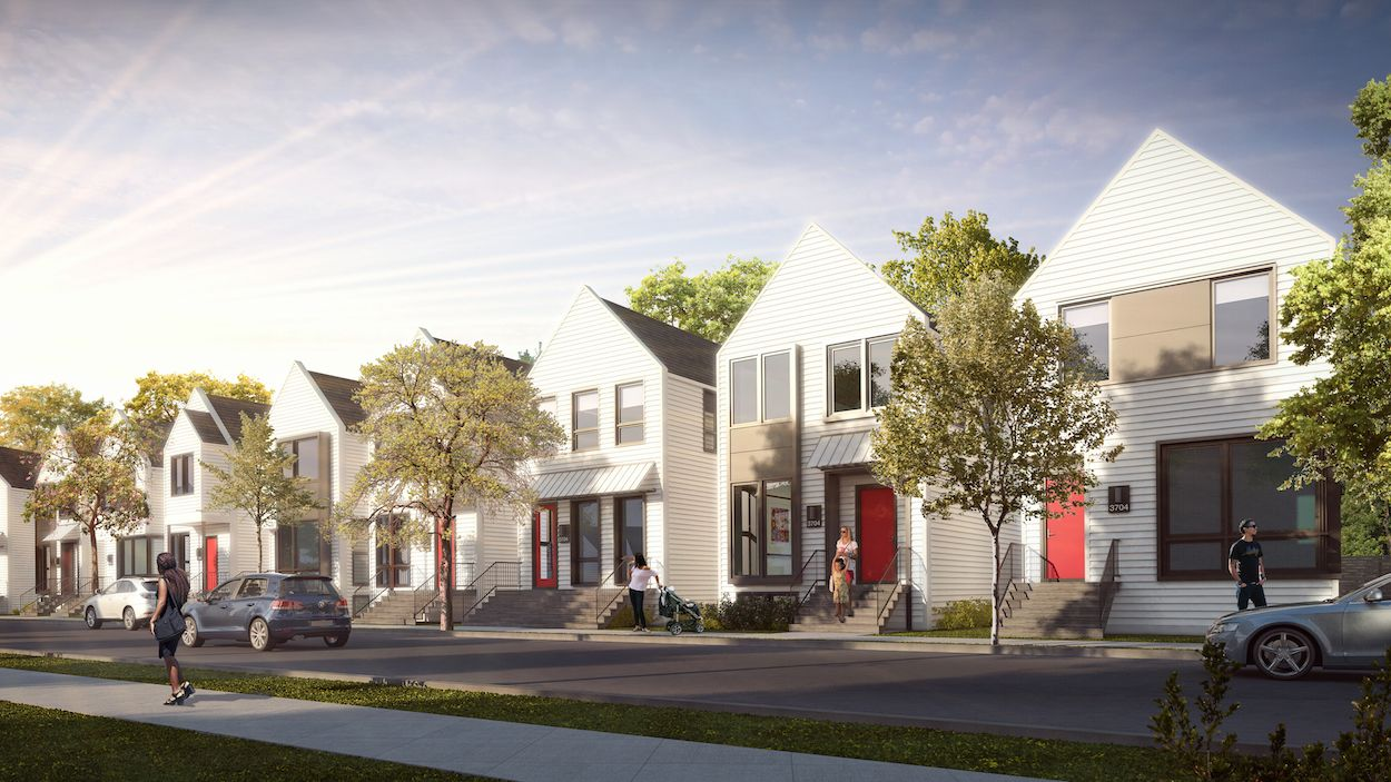 Modern Single Family Affordable Housing Chicago Google Search Home And Family Cool House Designs House Styles