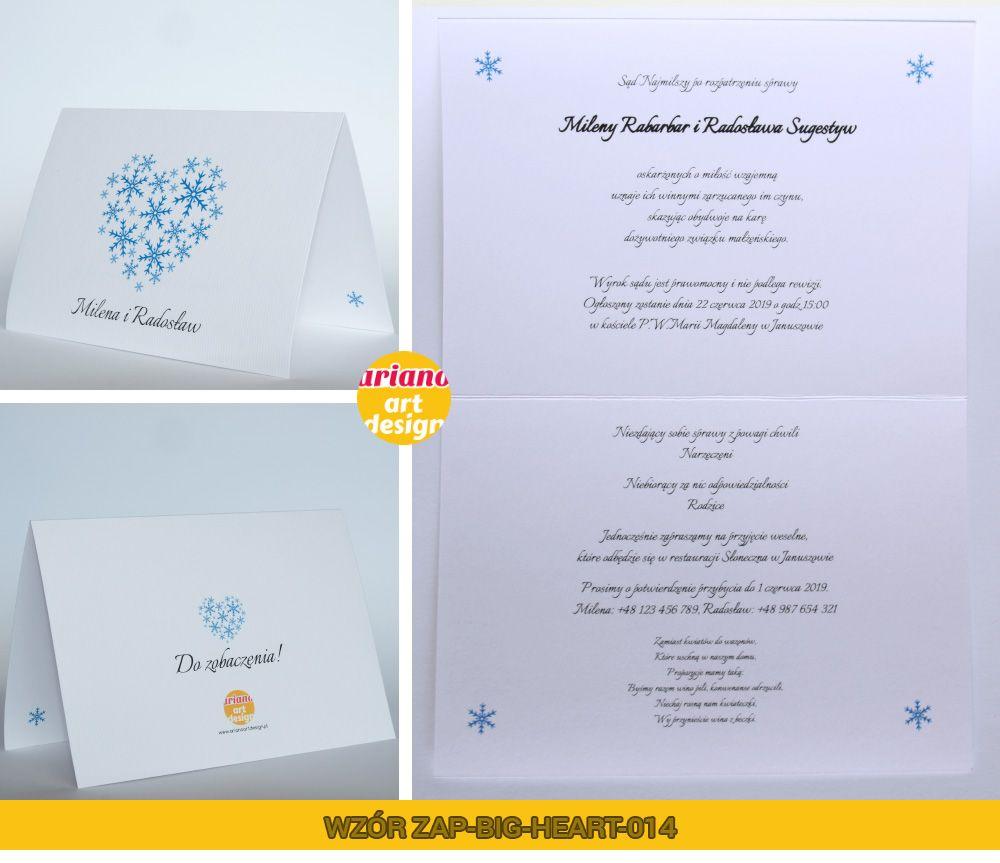 Zaproszenia Slubne Duze Serce Druk Kolor Koperta 5741974267 Oficjalne Archiwum Allegro Place Card Holders Cards Place Cards