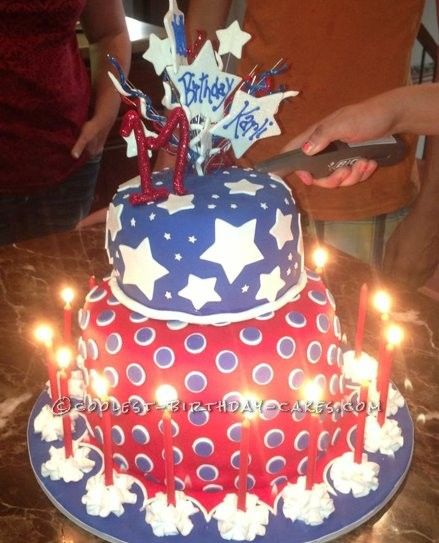 Coolest 4th Of July Birthday Bash Cake With Images Cool