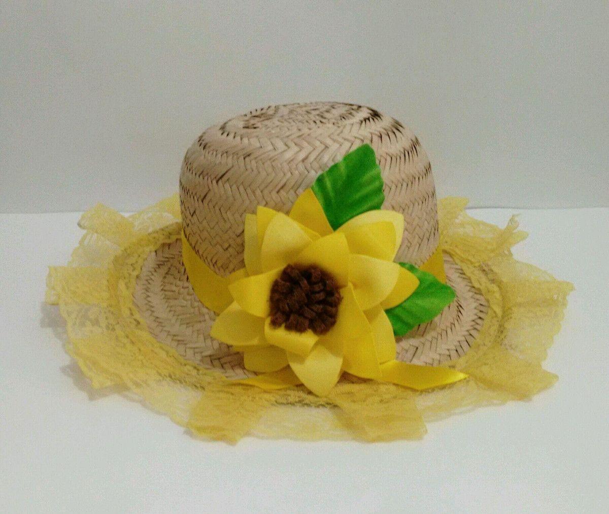 ef0b722b17bef Chapéu de Palha decorado