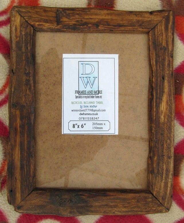 Rusticdriftwood Style Picture Frame To Fit 8x6 Picture Frames