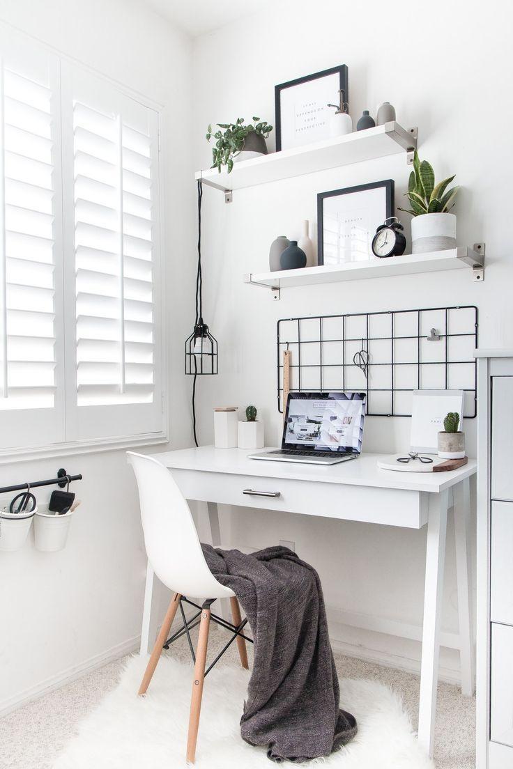 Mein minimalistischer Arbeitsbereich #officedesigns #cubicledecor #deskaccessories # ... - Angelica Heitzinger Decoration Blog