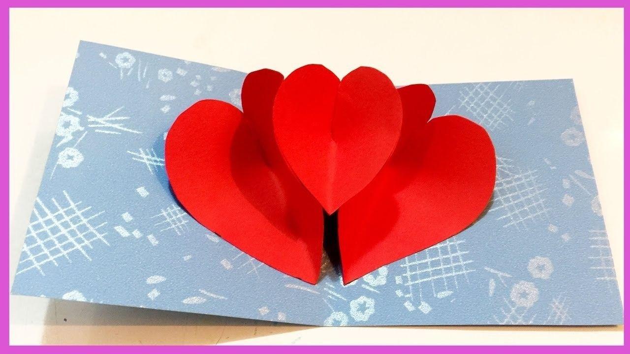 Heart Pop Up Card How To Make Heart Pop Up Card Rosie Diy Pop Up Valentine Cards Diy Valentines Cards Heart Pop Up Card