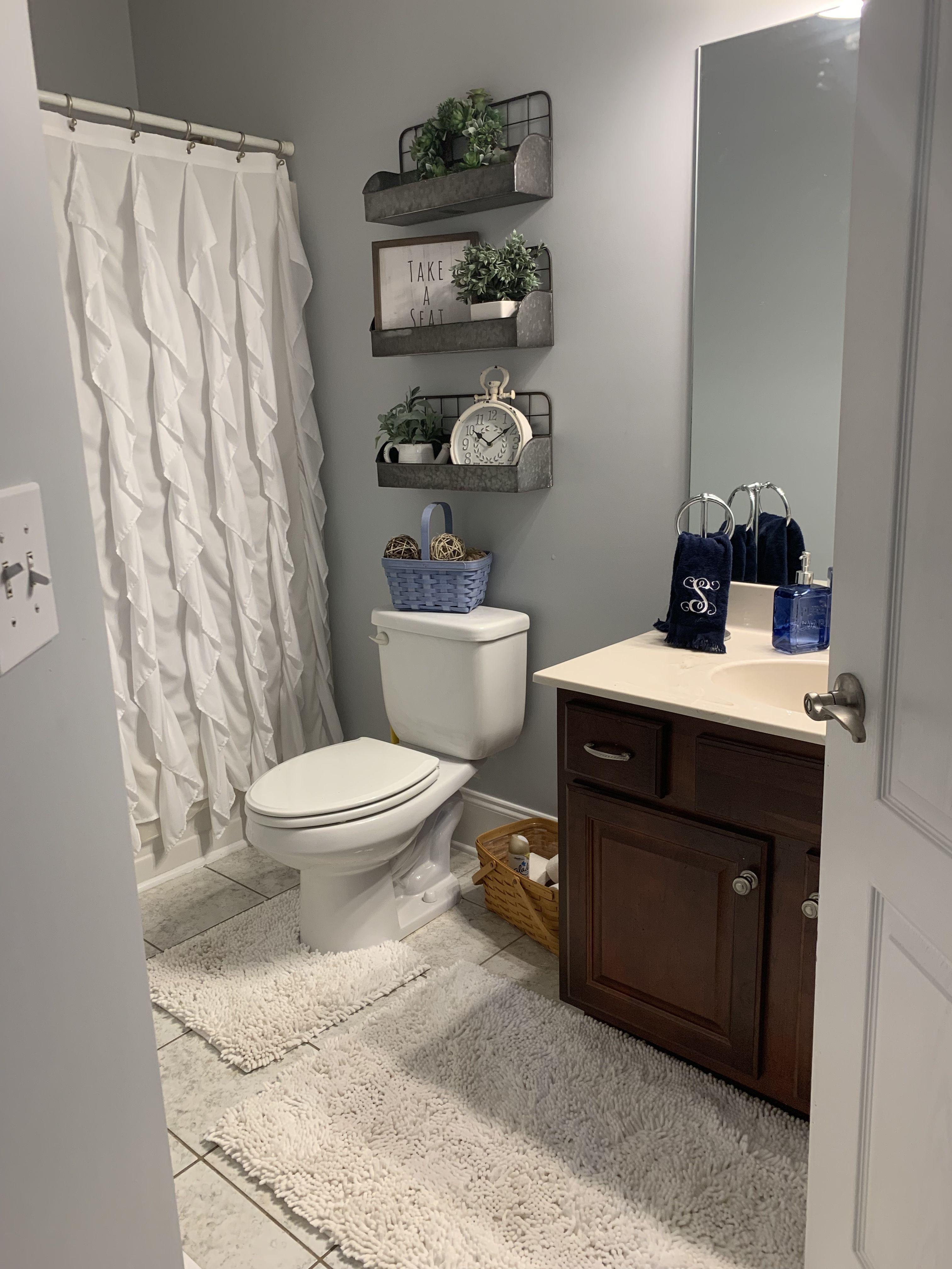 Farmhouse bathroom with hobby lobby decorations bathroom